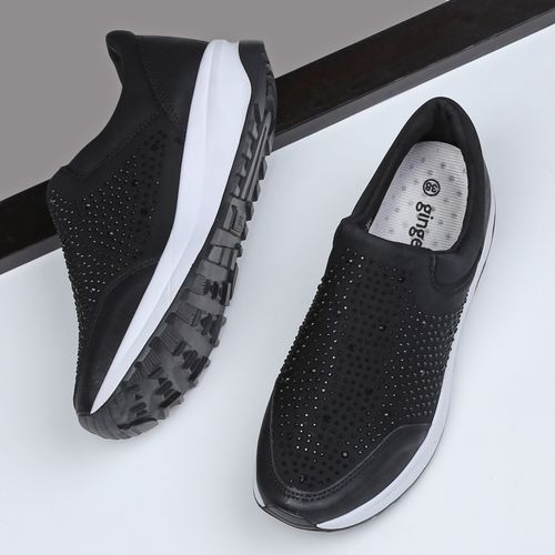 Ginger by lifestyle Slip-On Casual Shoes with Embellishments