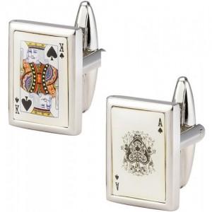 The jewelbox Silver Brass Cufflink
