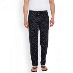 VIMAL JONNEY Black Printed Lounge Pants DD1-PRT-NO.1
