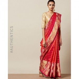 Indie Picks Handloom Pochampally Ikat Patola Pure Silk Saree