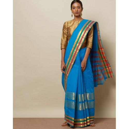 5cecd84aaf7424 Buy Indie Picks South Cotton Saree with Zari online   Looksgud.in