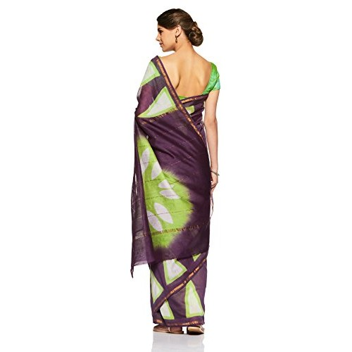 Gocoop Silk Saree With Blouse Piece