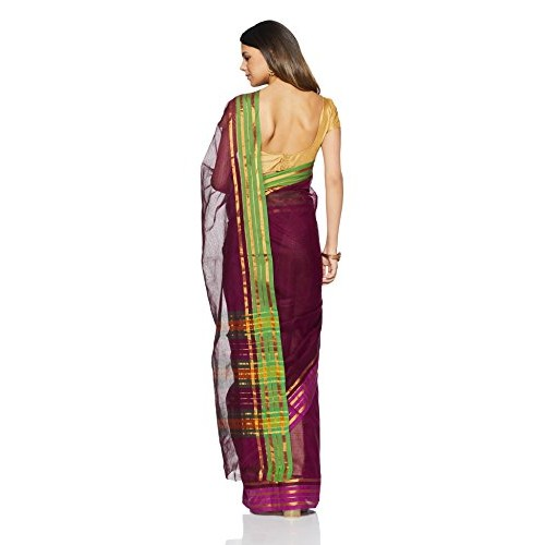Gocoop Cotton Saree With Blouse Piece