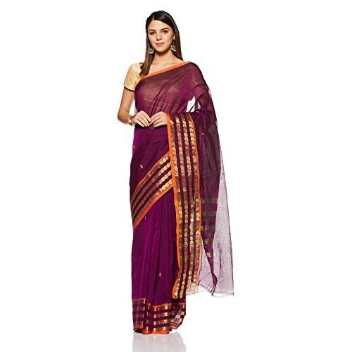 Gocoop Cotton Saree Without Blouse Piece
