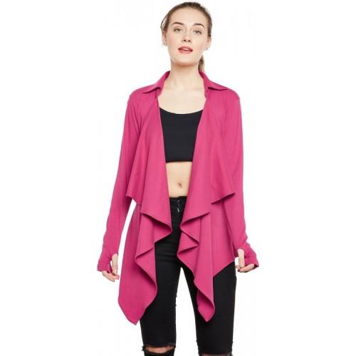 Hypernation Pink Full Sleeves Shrug