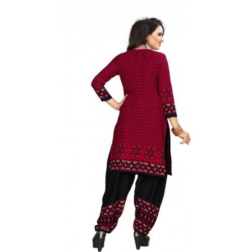Saara Multicolor Crepe Printed Salwar Suit Dupatta Material