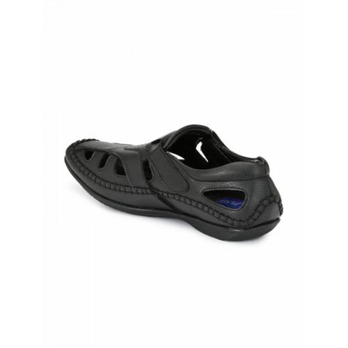El Paso Men Black Closed Sandals