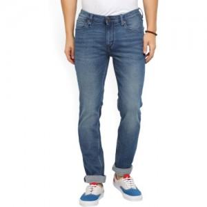 Lee Blue Cotton Slim Fit Skinny Jeans