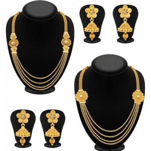 Sukkhi Golden Alloy Party Wear Jewel Set