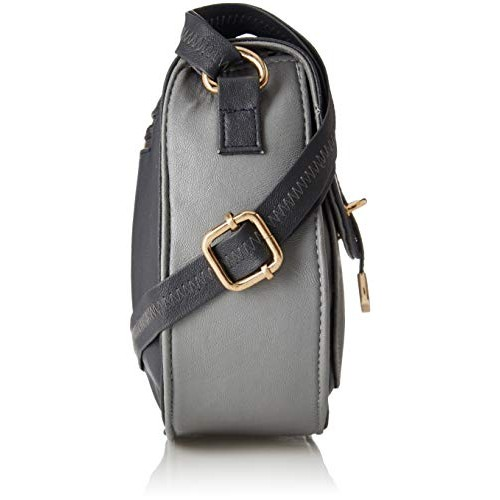 Kanvas Katha Grey Synthetic Sling Bag