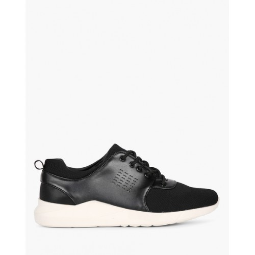 ARBUNORE Panelled Lace-Up Casual Shoes