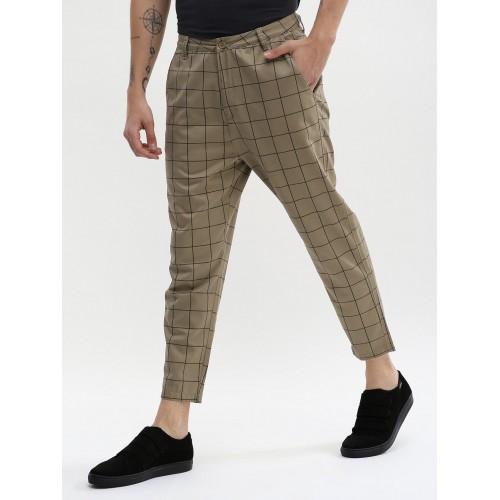 8837d76c07d Buy Spring Break Check Slim Cropped Trousers online | Looksgud.in