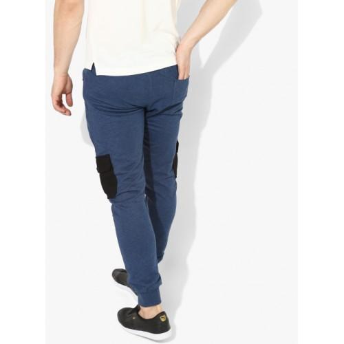 6eb556392df1 Buy Converse Blue Cotton Solid Track Pants online