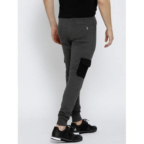 Converse Charcoal Grey Poly Cotton Solid Joggers