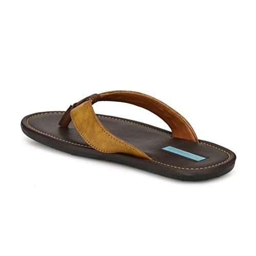 Levanse Men's Tan Leather Slippers