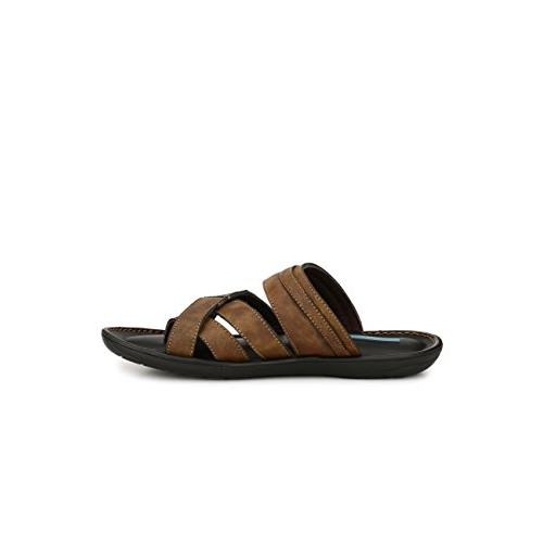 Levanse Men's Leather Brown Slippers