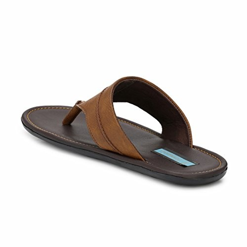 Levanse Men's Brown Synthetic Slippers