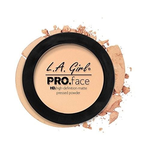 L A Girl HD Pro Face Pressed Powder, Creamy Natural, 7g
