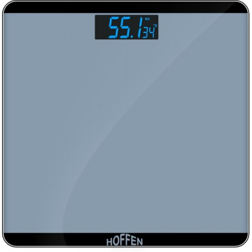HOFFEN grey Lite-Weight Digital Electronic LCD Personal Health Body Weighing Scale