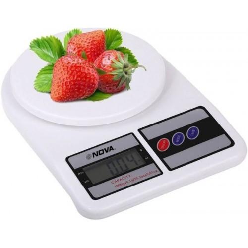 Nova White KS 1329 Electronic Digital Kitchen 10 kg Weighing Scale