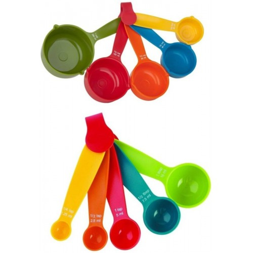 smiles4u Plastic Measuring Spoon Set(Pack of 10)