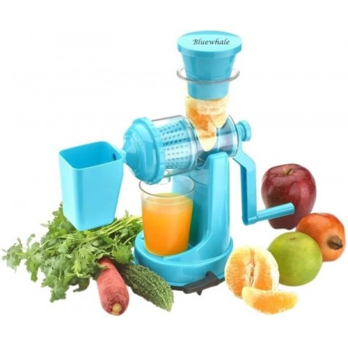 Bluewhale Fruit & Vegetable Plastic Hand Juicer (Blue Pack of 1)