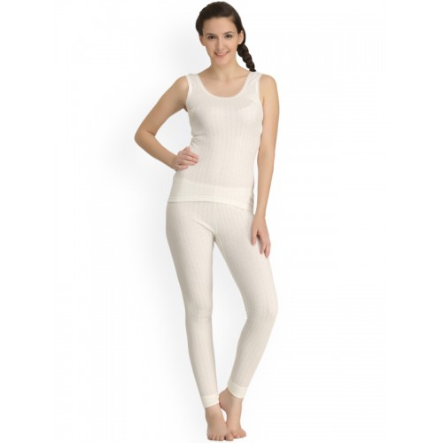 aceca517d1badc ... Kanvin Off-White Self-Design Thermal Set NEW2130OW2170 ...