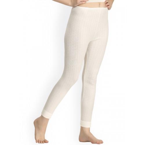 175f9d4d07594b ... Kanvin Off-White Self Design Thermal Leggings NEW2170OW2170 ...