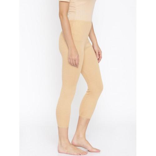 Kanvin Beige Thermal Semi-Long Leggings