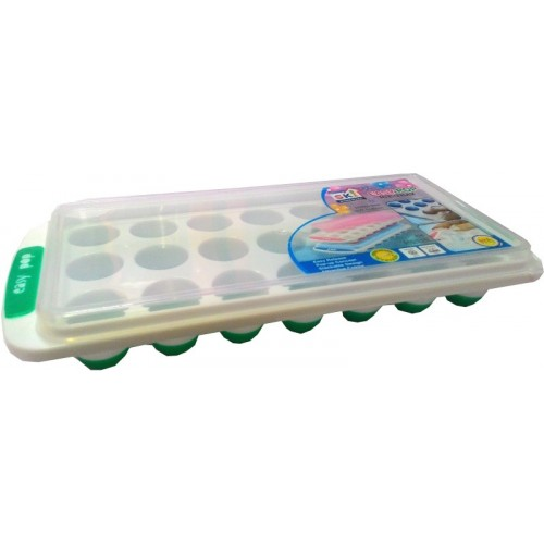 Goldcave Multicolor Plastic, Silicone Ice Cube Tray(Pack of 1)