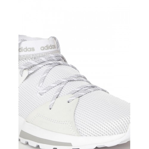 Adidas Women White & Grey QUESA Running Shoes