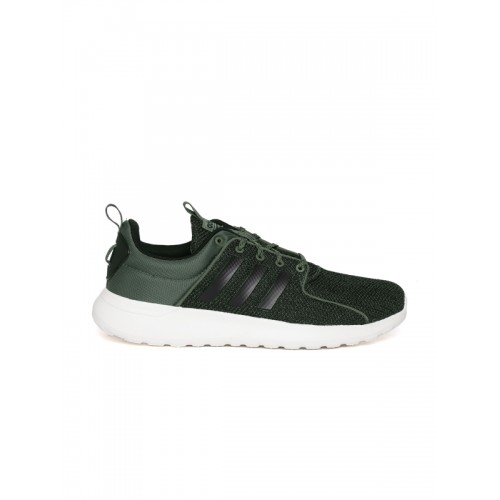 Adidas Men Olive Green CF Lite Racer Shoes