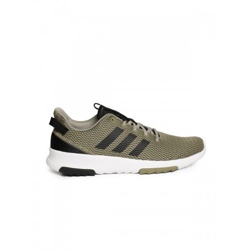 Buy Adidas Men Olive Green Cloudfoam