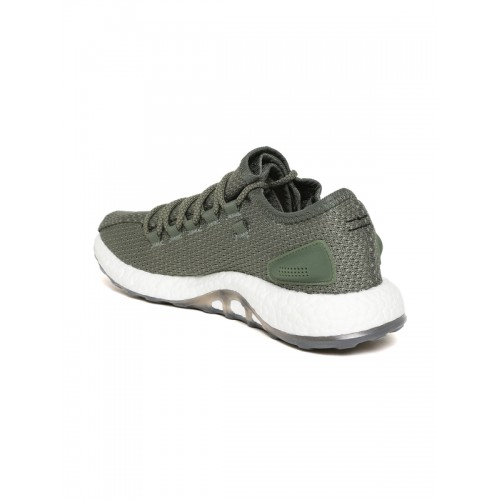 Buy Adidas Men Olive Green Pureboost Clima Running Shoes