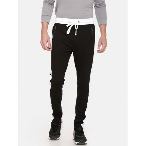 SKULT by Shahid Kapoor Black & White Slim Fit Track Pants