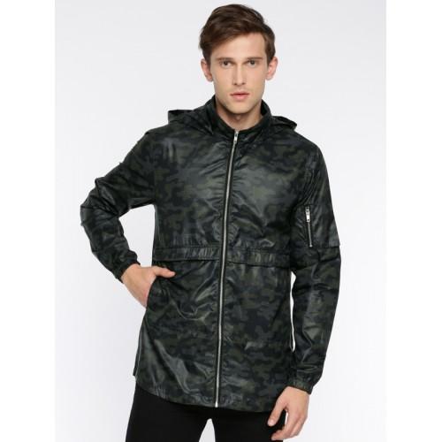 SKULT by Shahid Kapoor Men Black Printed Tailored Jacket
