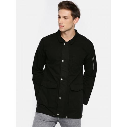 SKULT by Shahid Kapoor Men Black Solid Tailored Jacket