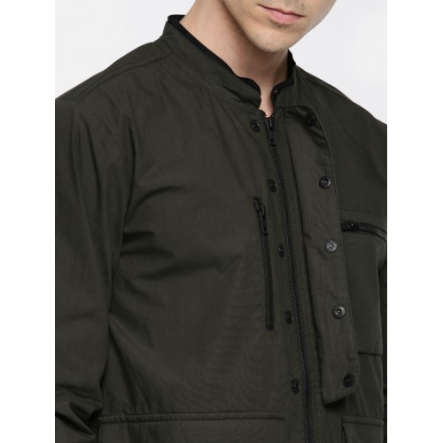 SKULT by Shahid Kapoor Men Charcoal Solid Tailored Jacket