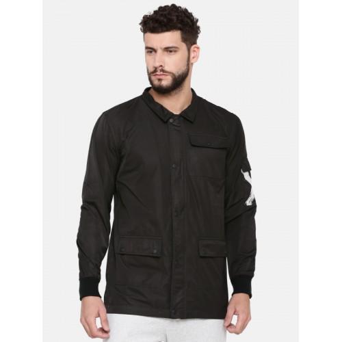 SKULT by Shahid Kapoor Men Black Printed Jacket