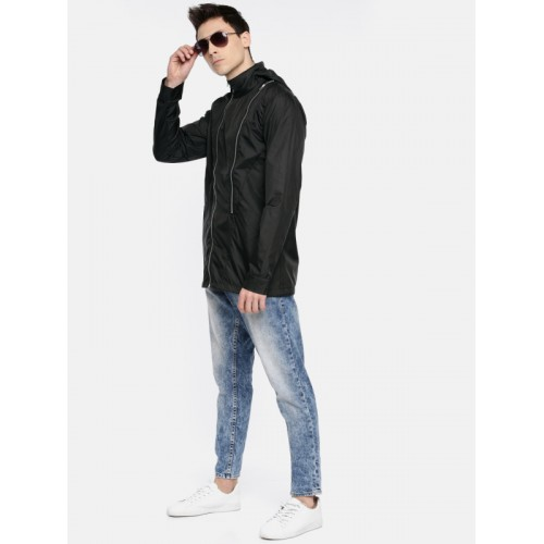 SKULT by Shahid Kapoor Men Black Solid Lightweight Tailored Jacket