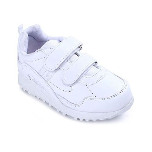 Force 10 School White Shoes With Dual Velcro Closure