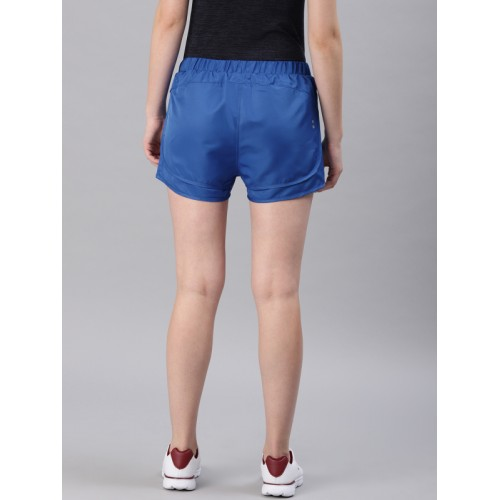 HRX by Hrithik Roshan Women Blue Solid Regular Fit Sports Shorts