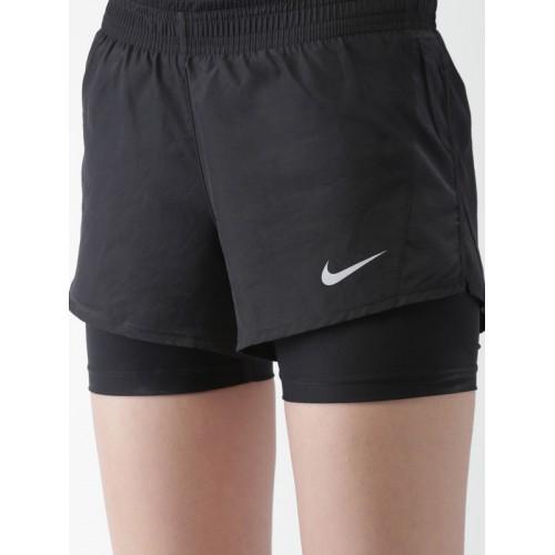 f40330cac43 Buy Nike Women Black 10K 2 IN 1 Running Shorts online