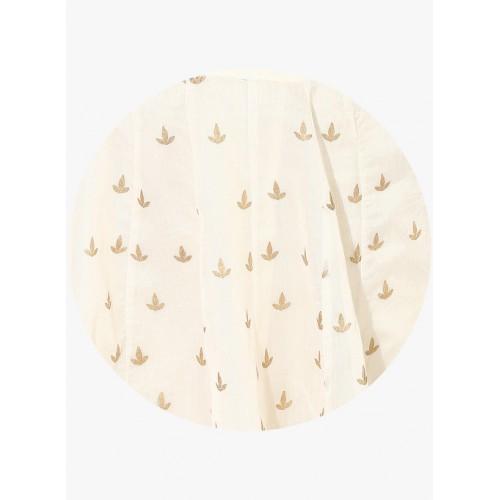 Biba Off White Printed Flared Skirt