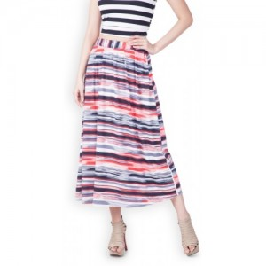 Zink London Multicolor Striped Pleated Skirt