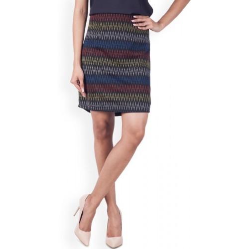 Zink London Multicolor Pencil Skirt