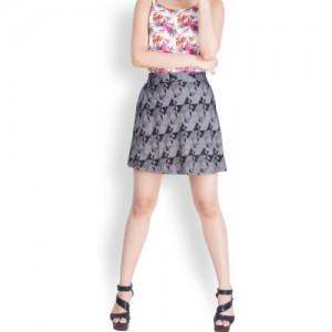 Zink London Black A-line Skirt