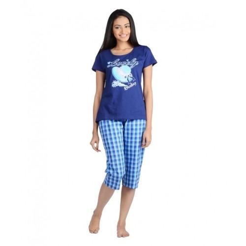 f7505b3635a Buy Nite Flite Blue Cotton Nightsuit Sets online