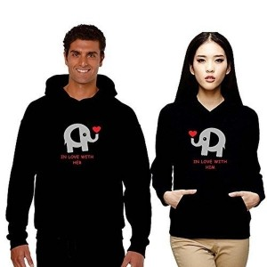 TYYC Cute In Love with You Black Couple Hoodies