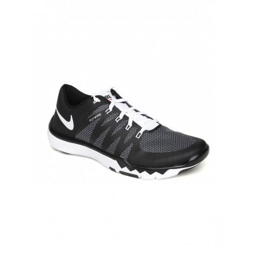 Buy Nike Men Black Free Trainer 5.0 V6 Training Shoes online ... 8f5e2952c